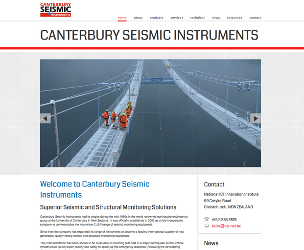 Canterbury Seismic Instruments